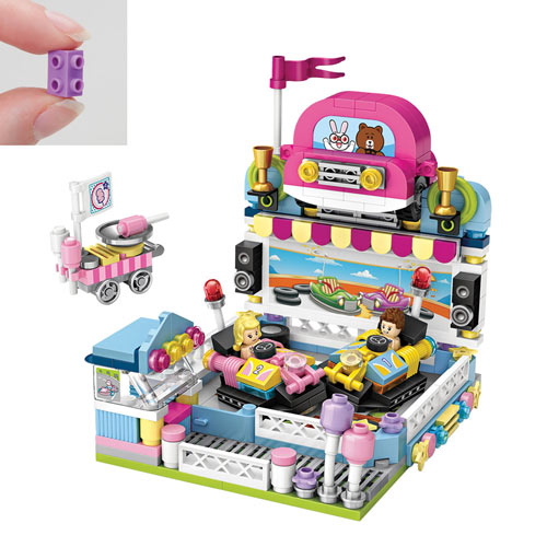 Bumper Cars with Cotton Candy Truck 432 Piece Puzzle
