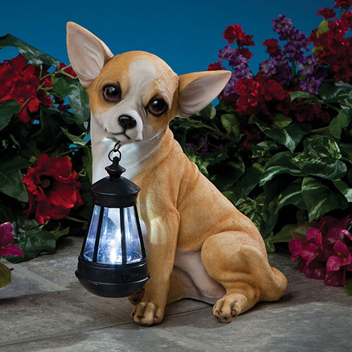 Chihuahua Solar LED Dog Breed Garden Lantern
