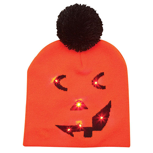 LED Light Up Pumpkin Knit Hat