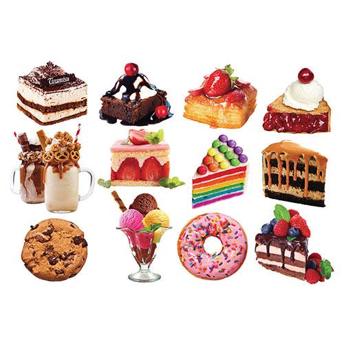 Mini Dessert Shaped Puzzles