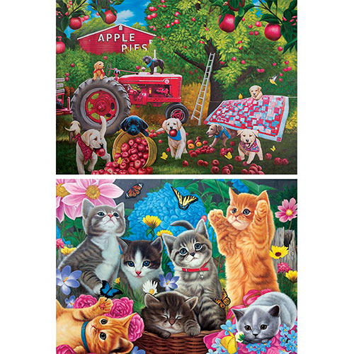 Set of 2: Little Pets 1000 Piece Jigsaw Puzzles
