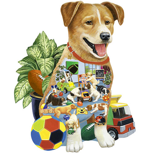 Puppy Preschool 300 Large Piece Shaped Jigsaw Puzzle