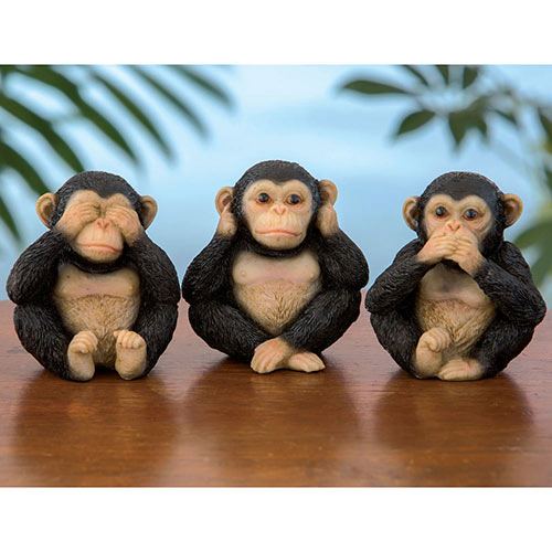 Set of 3: Three Little Monkeys Figurines