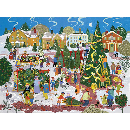 Christmas Tree Festival 300 Large Piece Jigsaw Puzzle