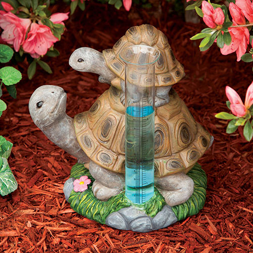 Loving Turtles Rain Gauge