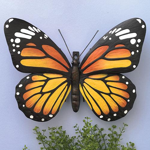 Metal Monarch Butterfly Wall Art