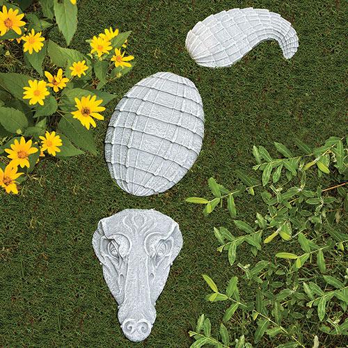 Crocodile Garden Accent Stones