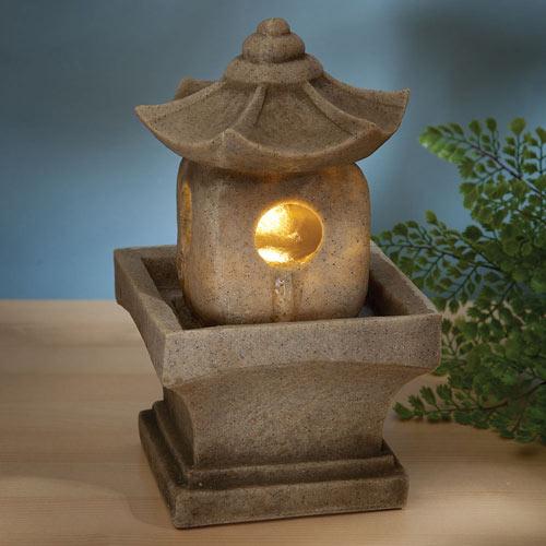 Asian Pagoda LED Fountain