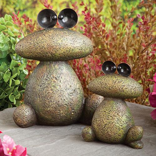 Stone Frog Sculptures