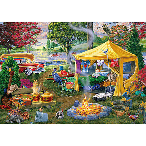 Seasons End Campfire 500 Piece Jigsaw Puzzle