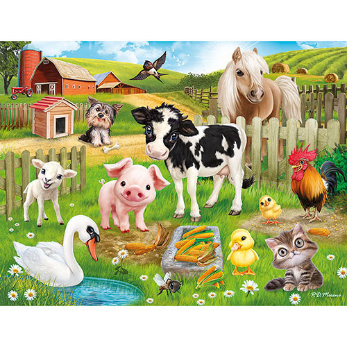 Farm Animal Club 100 Large Piece Jigsaw Puzzle