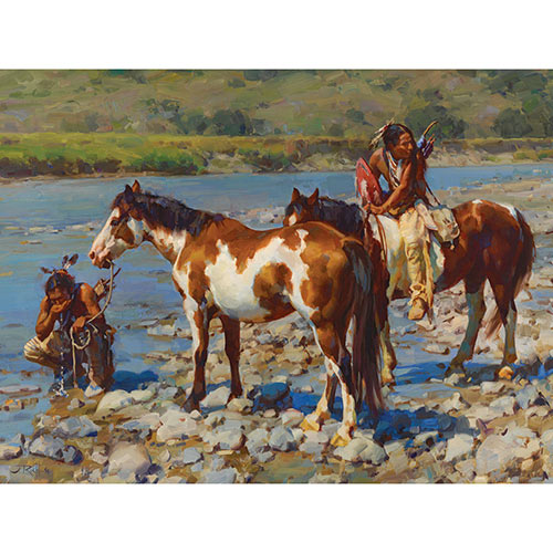 At the River's Edge 1000 Piece Jigsaw Puzzle