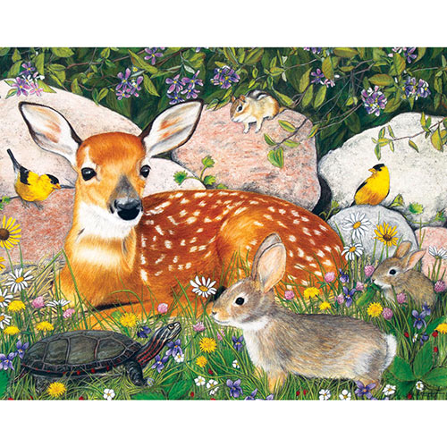 Woodland Friends 100 Large Piece Jigsaw Puzzle