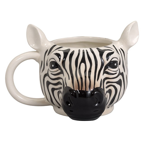 Jumbo Animal Shaped Zebra Mug 14 oz.
