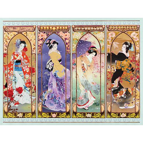 Oriental Gate Quilt 1000 Piece Jigsaw Puzzle