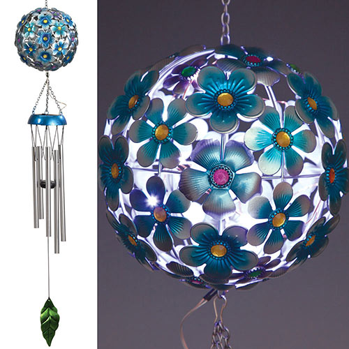 Floral Ball Solar LED Chimes