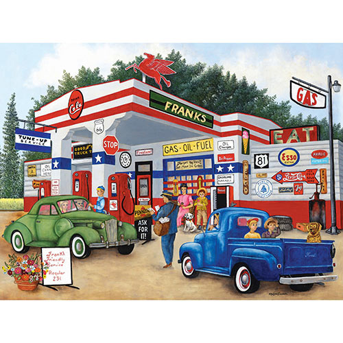 Frank's Friendly Service 500 Piece Jigsaw Puzzle