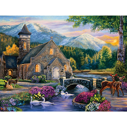 Beside Still Waters 300 Large Piece Jigsaw Puzzle