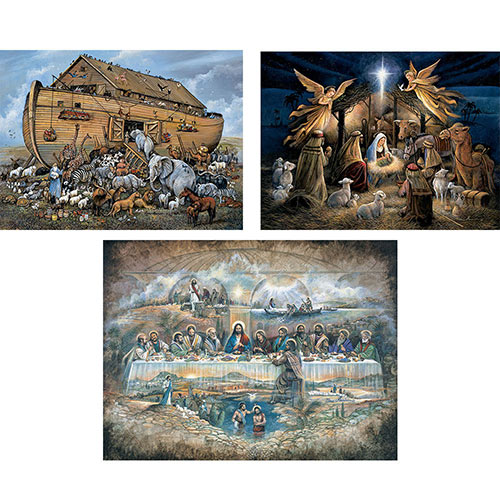 Set of 3: Ruane Manning 500 Piece Jigsaw Puzzles