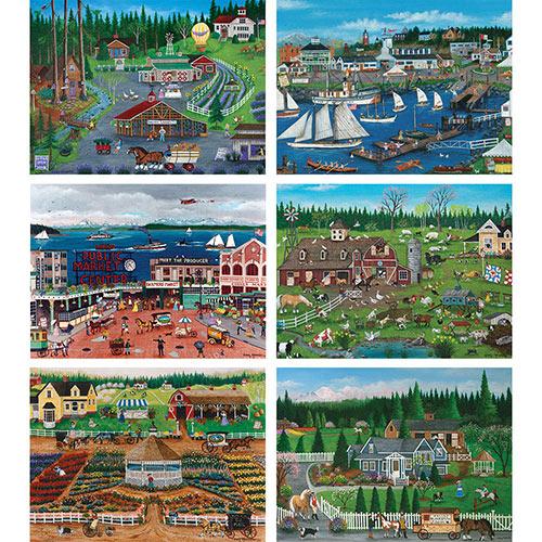 Set of 6: Cindy Mangutz 300 Large Piece Puzzles