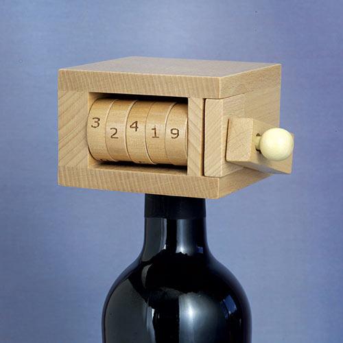 Wine Bottle Lock Brainteaser