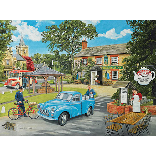 The Village Tea Rooms 1000 Piece Wood Jigsaw Puzzle