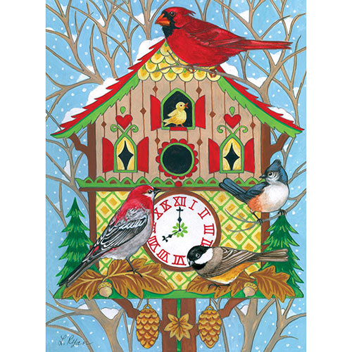 Cuckoo Clock Birdhouse 300 Large Piece Jigsaw Puzzle