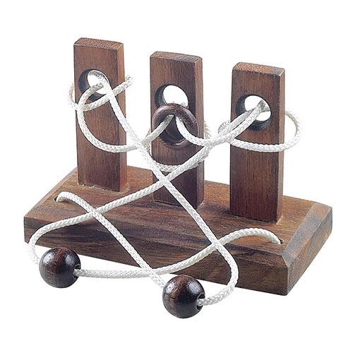 Triple Torment Wooden Puzzle