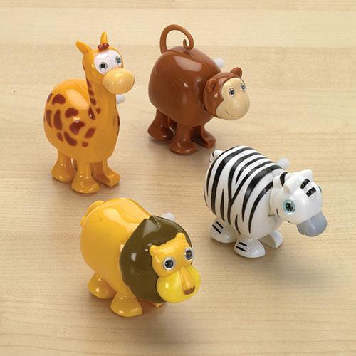 Wind-Up Racing Jungle Animals