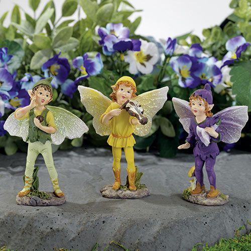 Set of 3: Magical Pixies Figurines