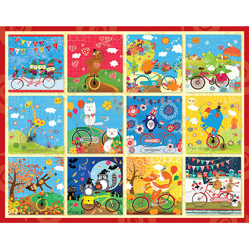 Critters Go for a Ride 200 Large Piece Jigsaw Puzzle