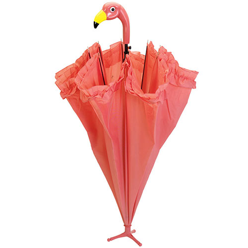 Ruffled Flamingo Umbrella