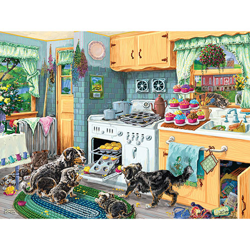 Dog Gone Good Cupcakes 500 Piece Jigsaw Puzzle