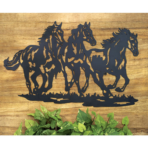 Galloping Horses Silhouette Wall Decor
