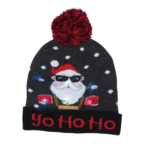 Light-Up Holiday Hat - Ho Ho Ho
