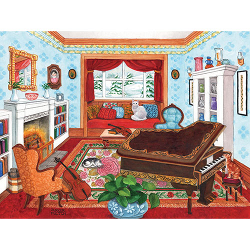 Music Room 500 Piece Jigsaw Puzzle