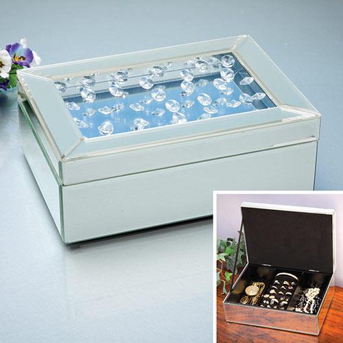 Crystal Mirrored Jewellery Box