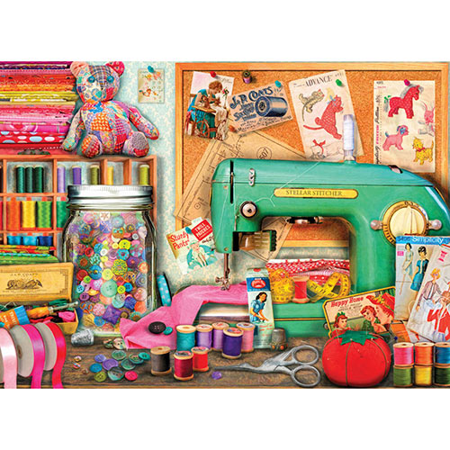 The Sewing Desk 500 Piece Jigsaw Puzzle