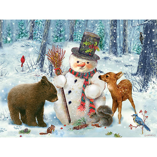 Snowman Gethering 300 Large Piece Jigsaw Puzzle