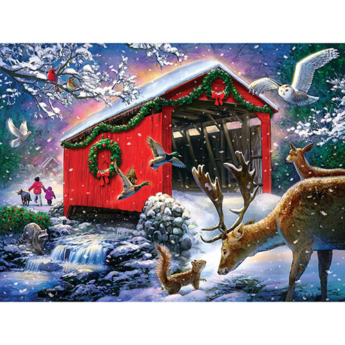 Winter Bridge 500 Piece Jigsaw Puzzle