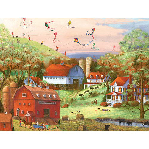 Beagles and Kites 300 Large Piece Jigsaw Puzzle