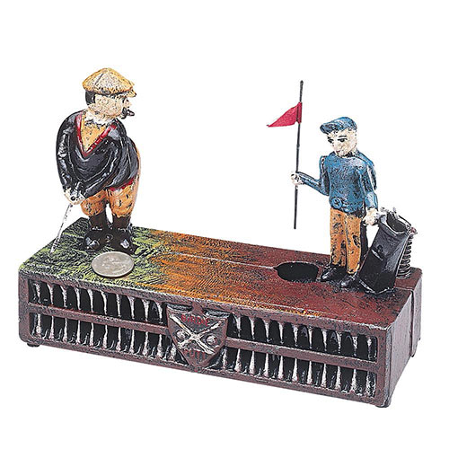 The Golf Cast-Iron Bank