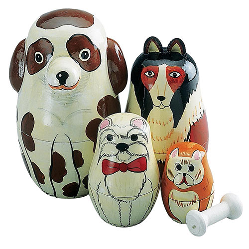 Nesting Dogs Animal Set