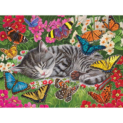 Blanket of Butterflies 300 Large Piece Jigsaw Puzzle