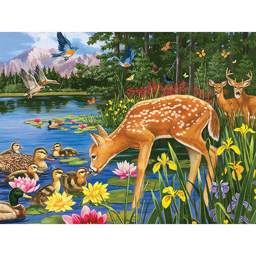 Making New Friends 300 Large Piece Jigsaw Puzzle