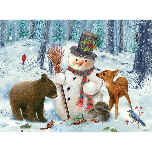 Snowman Gethering 1000 Piece Jigsaw Puzzle