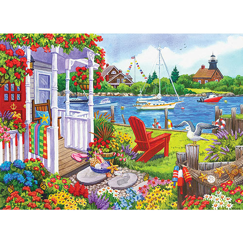Cottage by the Bay 1000 Piece Jigsaw Puzzle