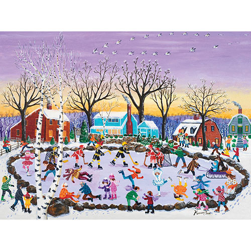 Pond Hockey 1000 Piece Jigsaw Puzzle