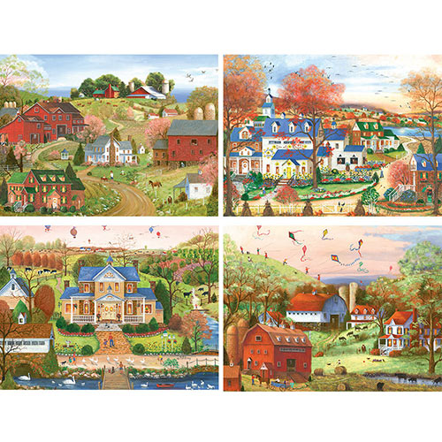 Set of 4: Mary Ann Vessey 1000 Piece Jigsaw Puzzles