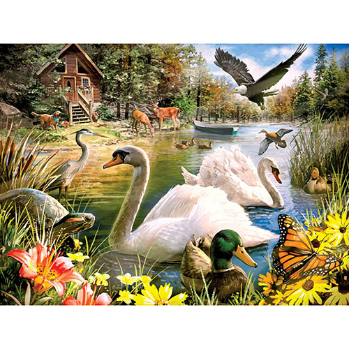 Summer Retreat 300 Large Piece Jigsaw Puzzle